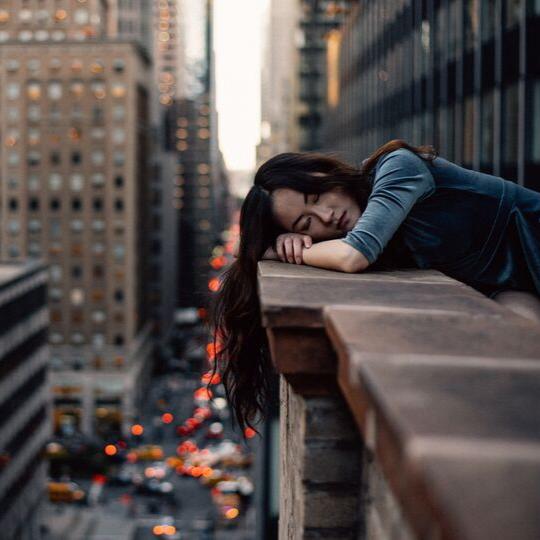 woman resting new york