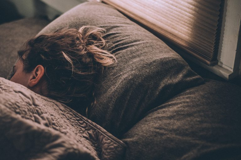 woman asleep with melatonin