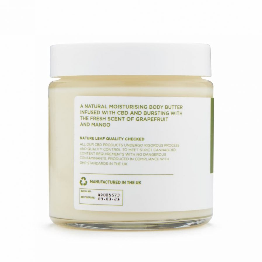 CBD Body butter side shot 2