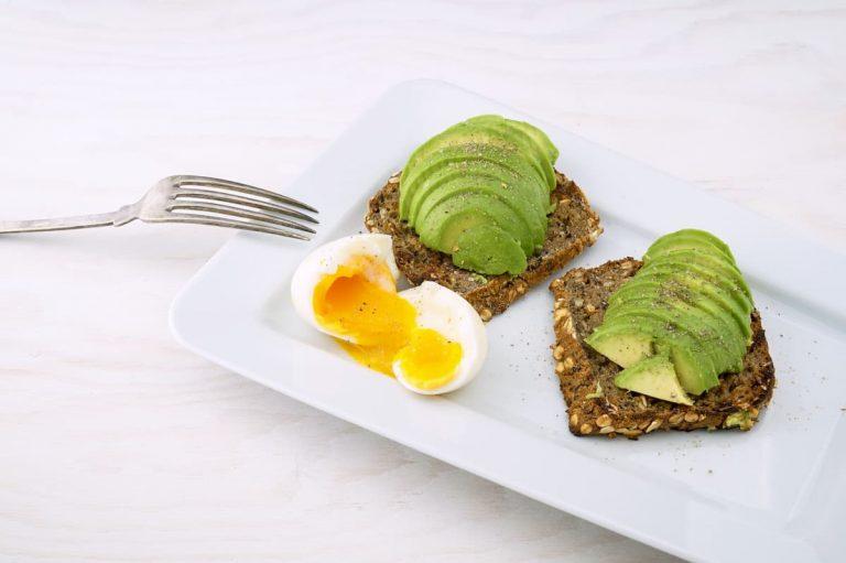 cbd breakfast avocado eggs