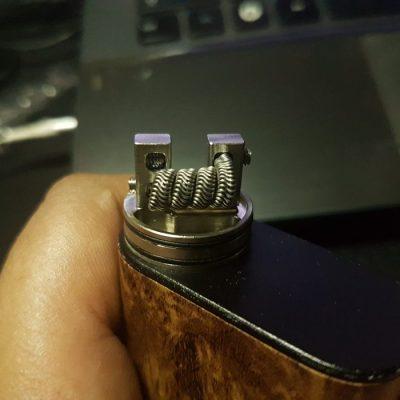 exposed vape coil